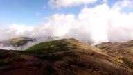 Panoramic view Pico do Arieiro, Madeira aerial view video