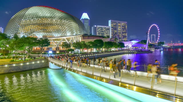 Panoramic view urban cityscape in singapore video