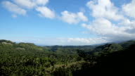 Panoramic views of jungle mountains in Philippines video