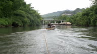 Panoramic views of the river kwai noi, kanchanaburi province and the river rafting video