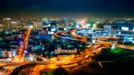 Panoraminc view of bangkok video