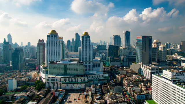 Panoraminc view of bangkok video