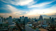 Panoraminc view of urban landscape. Timelapse video