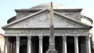 Pantheon Church, Rome, Italy, Real Time video