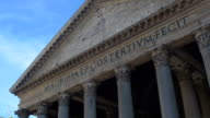 Pantheon is a famous monument of ancient Roman culture, the temple of all god video