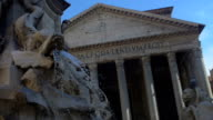 Pantheon, Rome, Italy. Slowmotion video