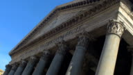 Pantheon, The northwest side view. Roma Italy video