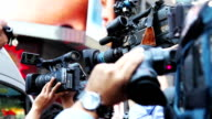 Paparazzis and Media Reporters Celebrity Breaking News HD video