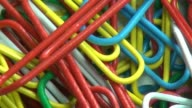 Paper Clips, Multi Colored, Office Supplies video