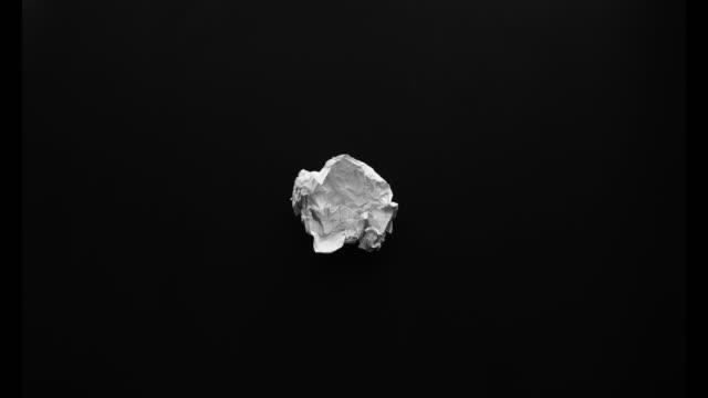 Paper crumple stop motion. video