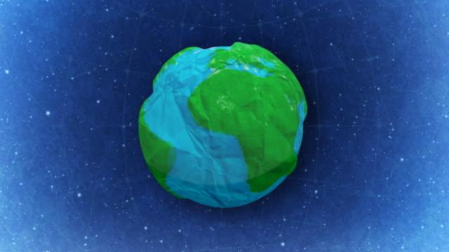 Paper Earth. Loop video