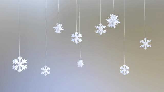 Paper Flakes, holiday background, against black video