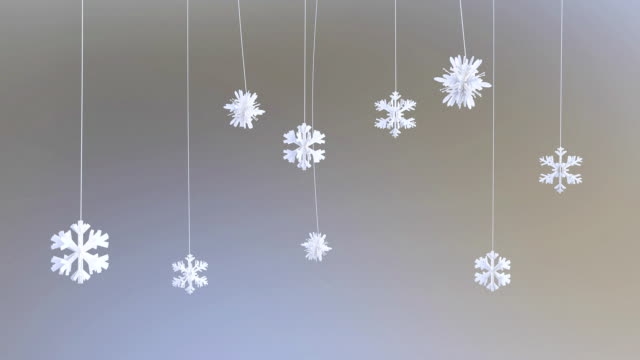 Paper Flakes, holiday background, Luma Matte video