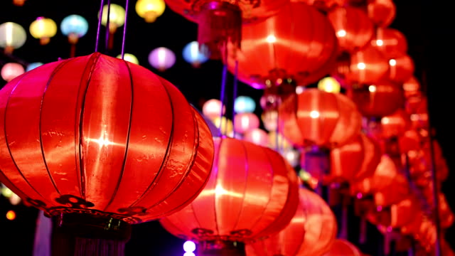 Paper Lanterns in Chinese New Year video