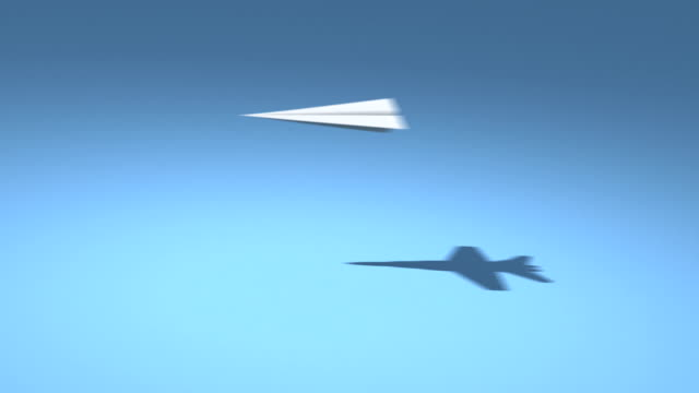 F18 Paper Planes HD Loop video