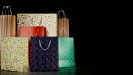 Paper shopping bags isolated. 3D Rendering video