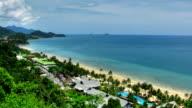 Paradise beach time lapse video