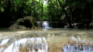 Paradise Waterfall (Huay Mae Kamin Waterfall) in Kanchanaburi, Thailand. video