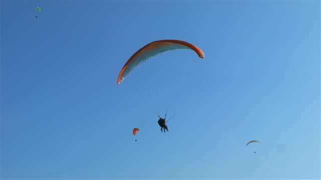 Paraglider Landing at Höhematte Park, Interlake, Switzerland video