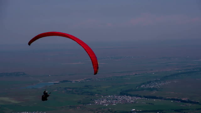 Paragliders Floating in the Air video