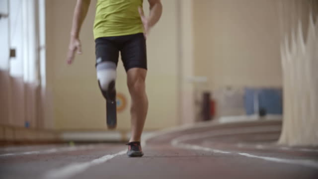 Paralympic Athlete Running a Race video