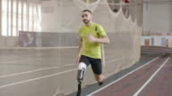 Paralympic Athlete Running in Practice video