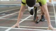 Paralympic Athletestarting From Blocks video