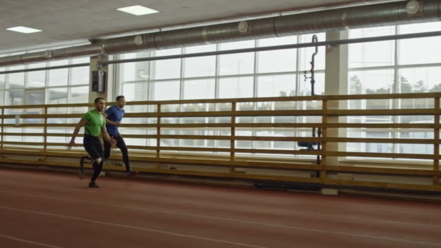 Paralympic Runner Training with Athlete video