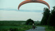 Paramotor takes off video