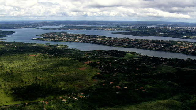 Paranoa Lake  - Aerial View - Federal District, Brasília, Brazil video