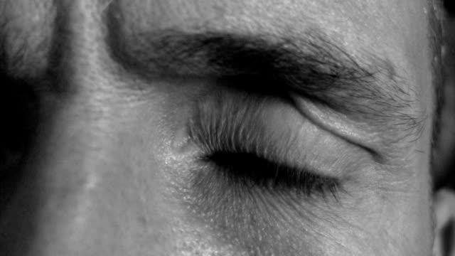 Paranoid eye. Black & white. video