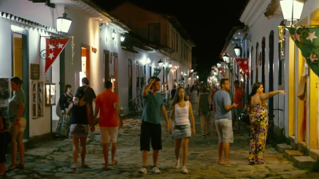 Paraty old town streets in Brazil video