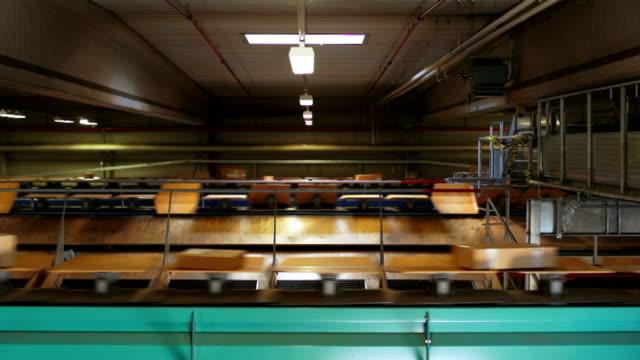 Parcel Transportation In A Distribution Center video