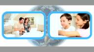 Parents & Children Using Internet Video Communication video