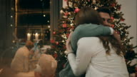 Parents giftig each other on christmas eve video