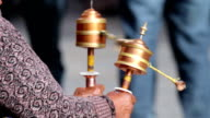 Parikrama (religious practice with prayer wheels) video
