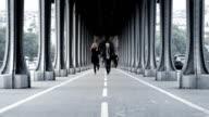 Paris Bridge Couple video