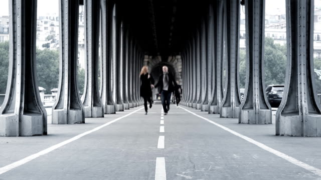 Paris Bridge Couple video
