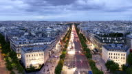 Paris Champs-Élysées Panorama Time Lapse video