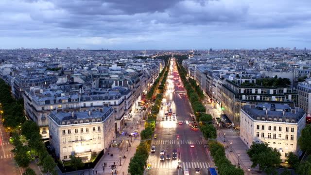 Paris Champs-Élysées Panorama Time Lapse video