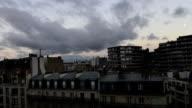 Paris city cloud sky timelapse video