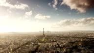 Paris Cityscape Time Lapse From Montparnasse Tower video