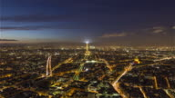 Paris, France - Day to Night video
