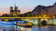 Paris, France, Timelapse of Notre dame de Paris cathedral video