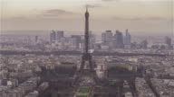 Paris, France, Timelapse  - The Eiffel Tower before the Sunset video