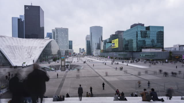 Paris, France - Timelapse  - The Financial District called la defense video