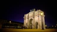 Paris guests viewing Arc de Triomphe du Carrousel, sightseeing tour to France video