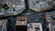 TIME LAPSE: Paris Intersection Aerial View video