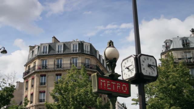 Paris Metro Subway Sign video