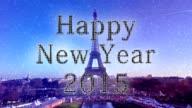 Paris New year snow 2015 video
